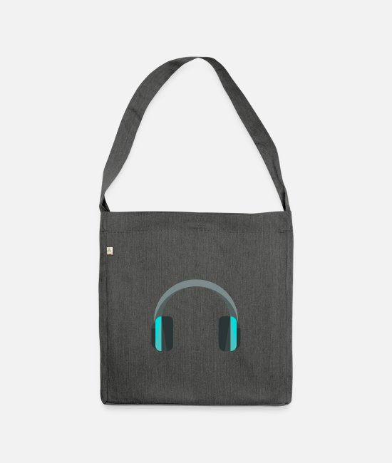 Headphones Bags & Backpacks - Headphones headphones - Shoulder Bag recycled dark grey heather
