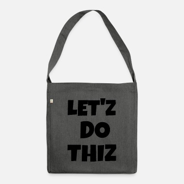 Text text - Shoulder Bag recycled