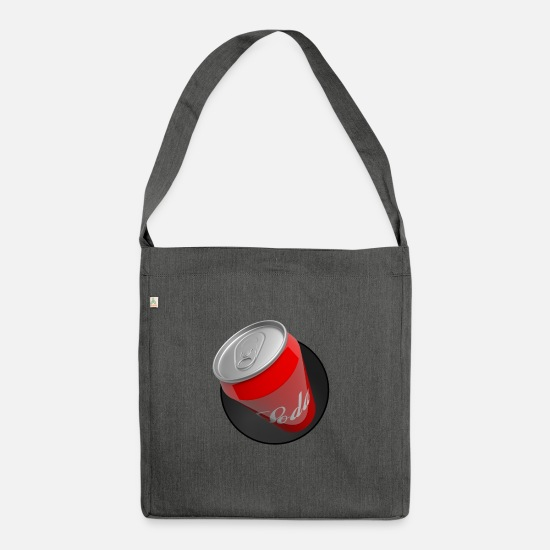Red Bags & Backpacks - Can of Cola - Shoulder Bag recycled dark grey heather