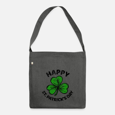 Lucky Charm St. Patricks Day congratulations saying Patty Paddy - Shoulder Bag recycled