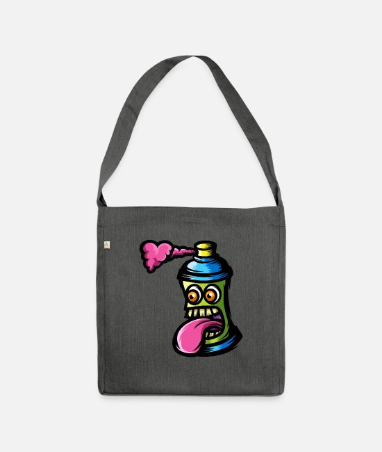 Love Bags & Backpacks - Graffitti - Shoulder Bag recycled dark grey heather