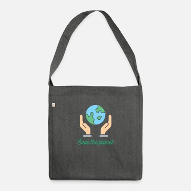 Save The Planet Planet - Save the planet - Shoulder Bag recycled