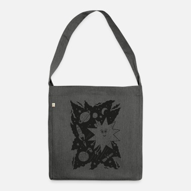 Black Stella star for coloring - Shoulder Bag recycled