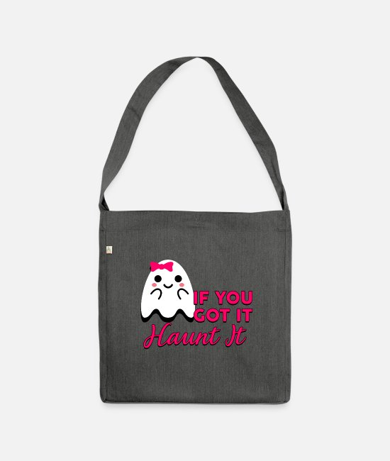 Boo Bags & Backpacks - If you go it haunt it - Shoulder Bag recycled dark grey heather