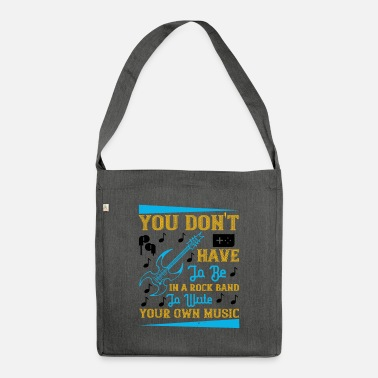 Brass You don't have to be in a rock band - Shoulder Bag recycled