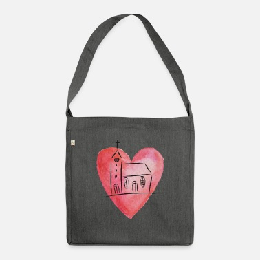 Church in the heart - Shoulder Bag recycled