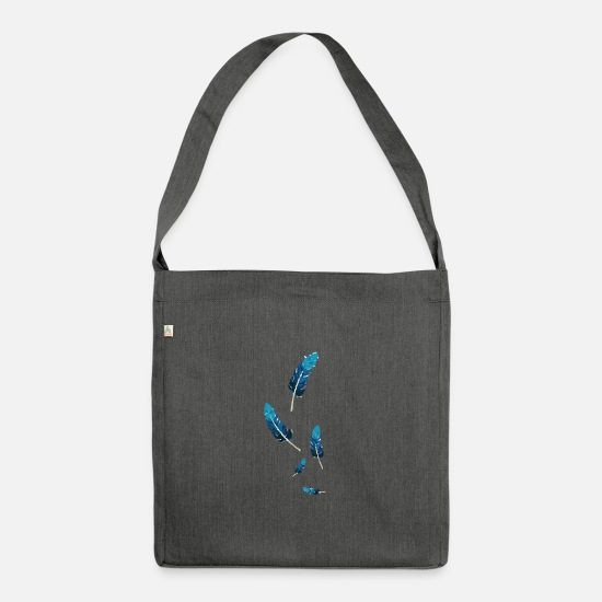Feather Bags & Backpacks - feathers - Shoulder Bag recycled dark grey heather
