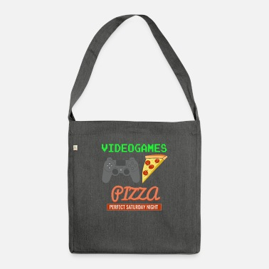 Game Video Games Pizza - Shoulder Bag recycled