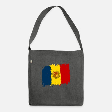 Bandera Andorra bandera - Andorra flag - Shoulder Bag recycled