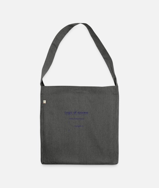Program (what You Do) Bags & Backpacks - success - Shoulder Bag recycled dark grey heather