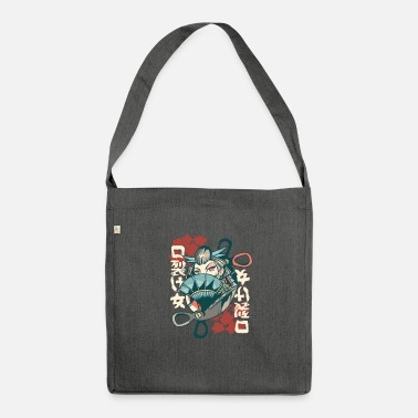 Kuchisake Onna - Shoulder Bag recycled