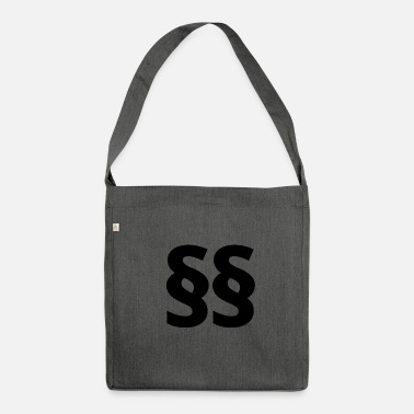 Paragraph design - Shoulder Bag recycled