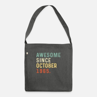 Grandad Awesome Since October 1965 55 Years Old Gift 55th - Shoulder Bag recycled