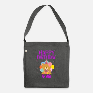 Birthday Greeting Happy birthday greeting saying - Shoulder Bag recycled