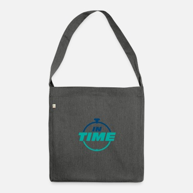 Time IN TIME On time In time clock - Shoulder Bag recycled