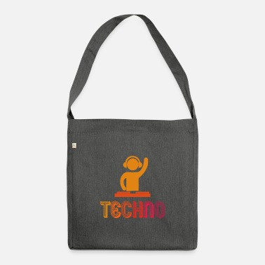 Techno Bass Techno Music - Drum & Bass - Bolsa de tela reciclado
