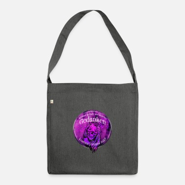 Dark Woman with skull scarf - Shoulder Bag recycled