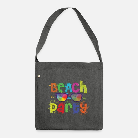 Beach Bags & Backpacks - Beach party - Shoulder Bag recycled dark grey heather