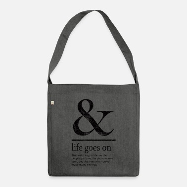 Meaning Of Life meaning of life - Shoulder Bag recycled