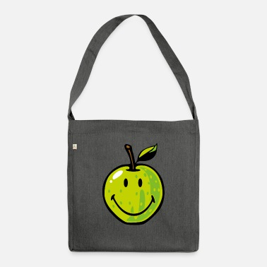Smiley Green Apple - Återvunnet axelremsväska