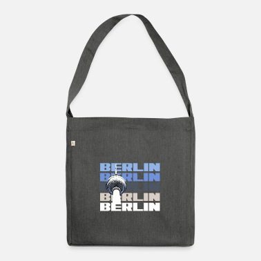 State Capital Berlin capital state television tower - Shoulder Bag recycled