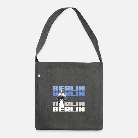 Berlin Bags & Backpacks - Berlin capital state television tower - Shoulder Bag recycled dark grey heather