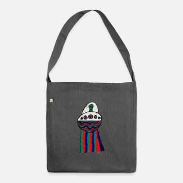 Space Ship alien space ship - Shoulder Bag recycled