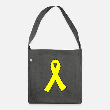 Yellow yellow ribbon SW edge - Shoulder Bag recycled