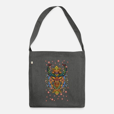 Wild deer stag head - Shoulder Bag recycled