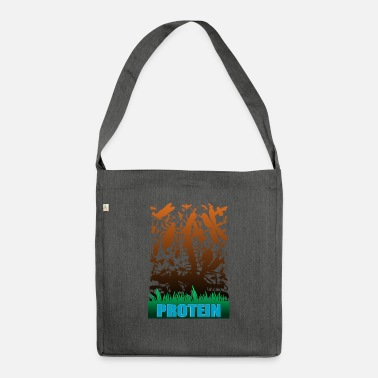 Protein protein - Shoulder Bag recycled