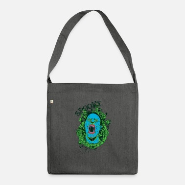 SPOOKY Halloween Zombie Goth Design - Shoulder Bag recycled