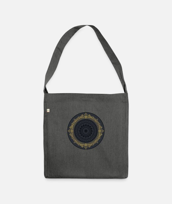 Vintage Bags & Backpacks - VINTAGE - Shoulder Bag recycled dark grey heather