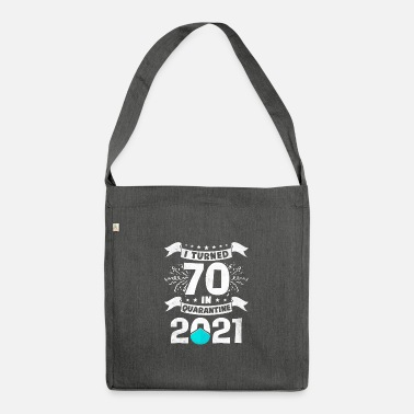 Party 70th birthday gift born in 1951 70 years - Shoulder Bag recycled