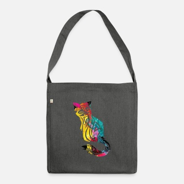 Gradient Cat with gradient - Shoulder Bag recycled
