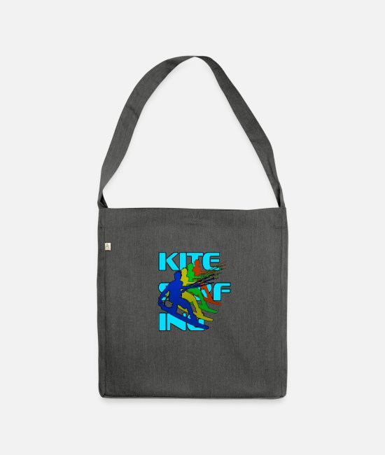Surfer Bags & Backpacks - Kitesurfing T-shirt - Shoulder Bag recycled dark grey heather
