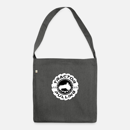 Tractor Bags & Backpacks - Tractor Pulling Logo - Shoulder Bag recycled dark grey heather