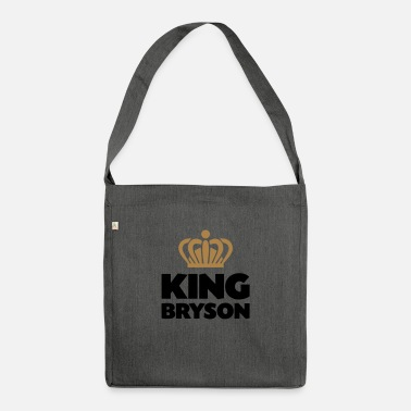 Bryson King bryson name thing crown - Shoulder Bag recycled