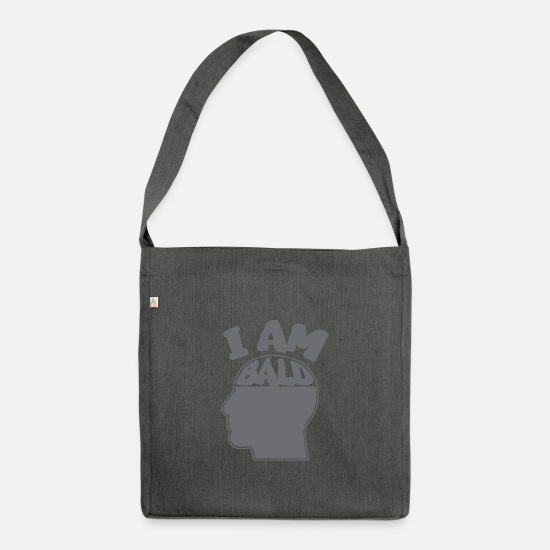 Gift Idea Bags & Backpacks - Bald carrier - Shoulder Bag recycled dark grey heather