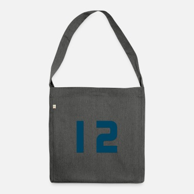 Jersey Number Jersey number 12 - Jersey number 12 - Shoulder Bag recycled