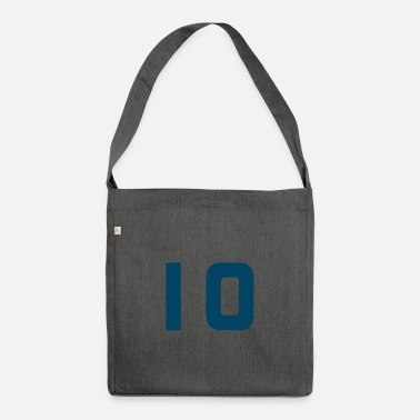 Jersey Number Jersey number 10 - Jersey number 10 - Shoulder Bag recycled