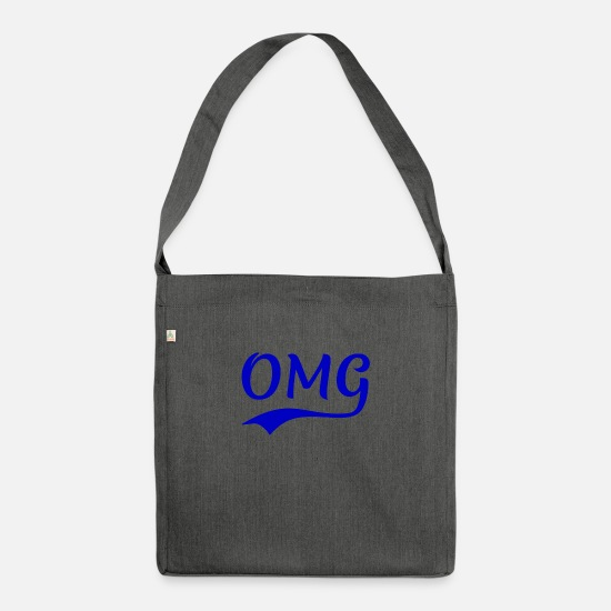 Gift Idea Bags & Backpacks - OMG - Shoulder Bag recycled dark grey heather