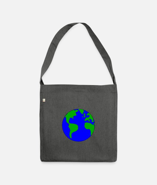 Earth Bags & Backpacks - earth - Shoulder Bag recycled dark grey heather