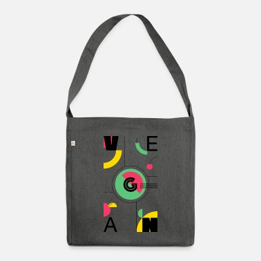 Abstract Vegan - Shoulder Bag recycled