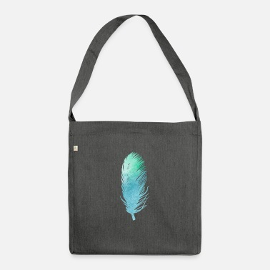Feather Feather feathers feathers gradient - Shoulder Bag recycled