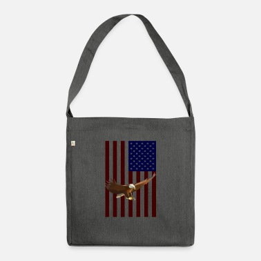 American American Flag with American Eagle - Shoulder Bag recycled