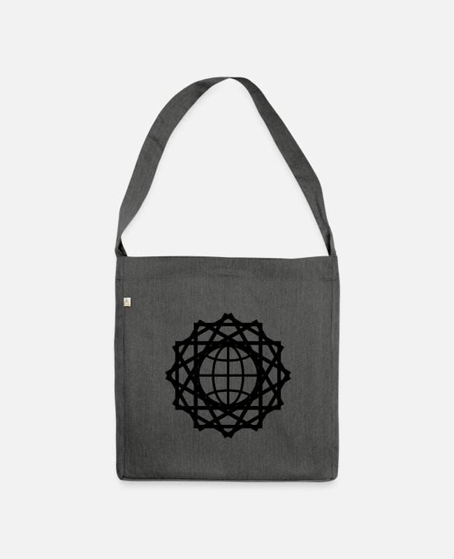Earth Bags & Backpacks - global connection - Shoulder Bag recycled dark grey heather