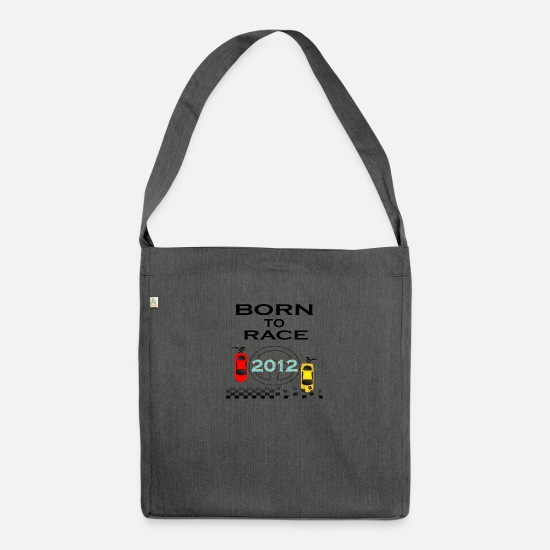 Love Bags & Backpacks - Born To Race Racing - Shoulder Bag recycled dark grey heather