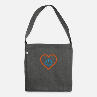 Romantico power of love v3 - Borsa a tracolla riciclato
