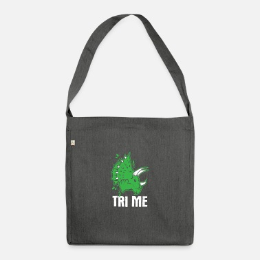 Story Awesome Dinosaur Design Quote Tri Me Dino - Shoulder Bag recycled