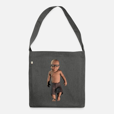 Laugh baby cool - Shoulder Bag recycled